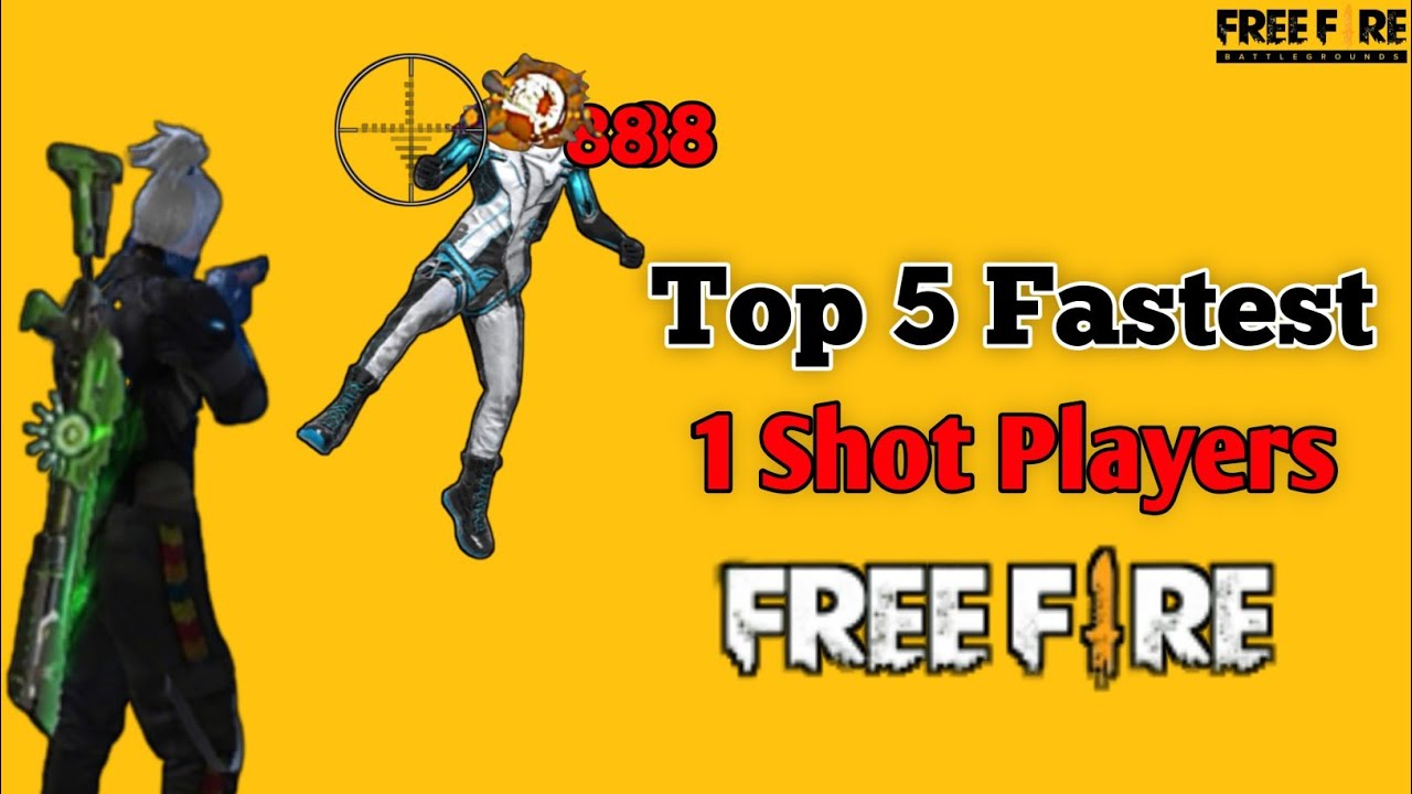 Top 5 Fastest 1 Shot Players Of Free Fire🔥 Headshot Kings 🤫