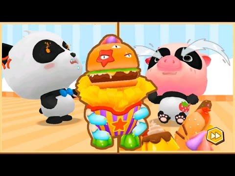 Злобный фастфуд превратил малыша бэби панду в Свинку и хочет съесть! Панда Кики спешит на помощь!