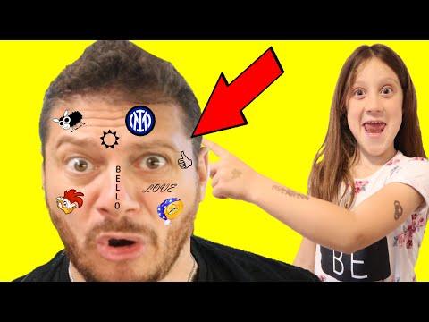 Aurora e Noemi mi hanno tatuato la faccia!