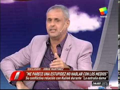 Jorge Martínez, excompañero de Kuliok, destrozó a la actriz