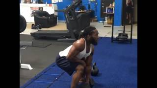 110lbs Dumbbell Snatch by MMA Fighter Sultan Umar
