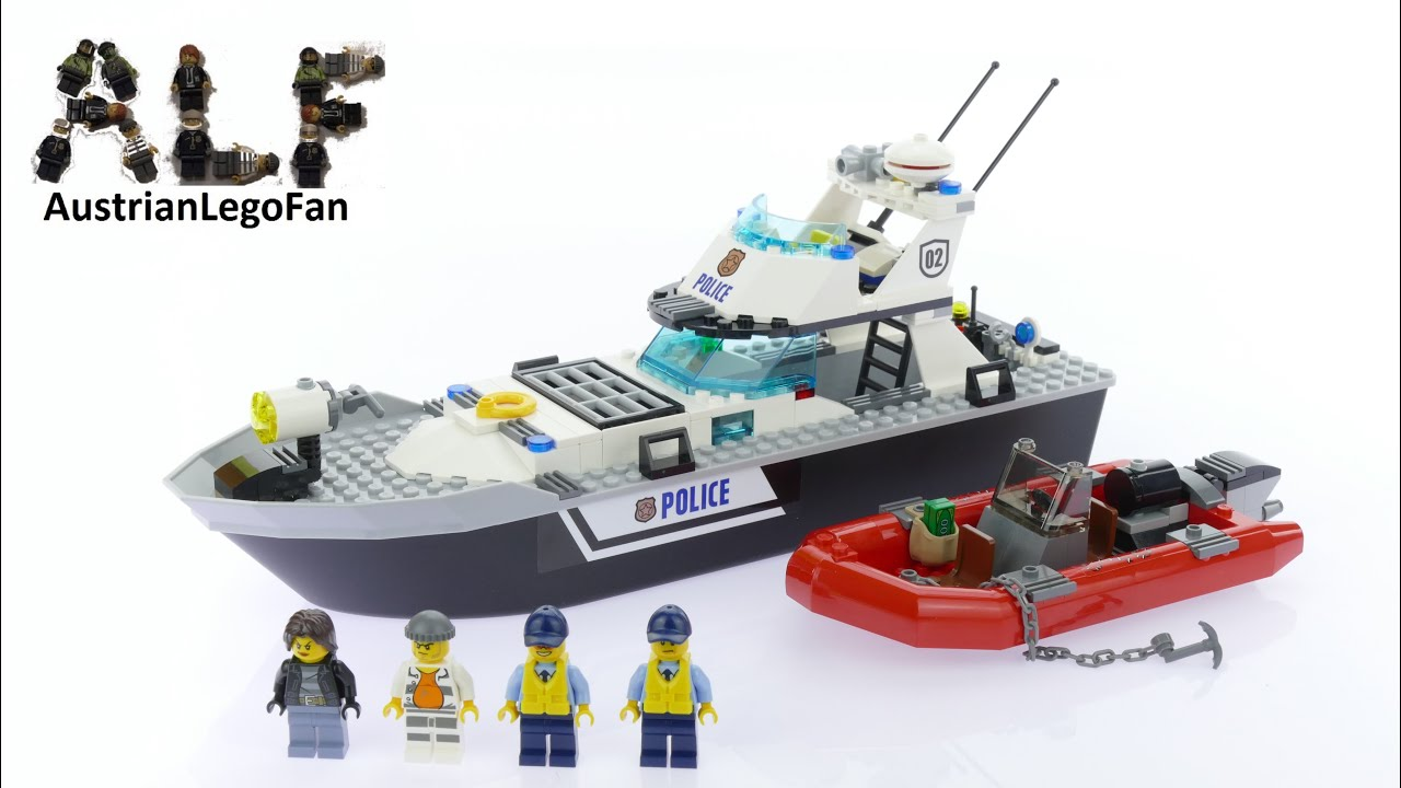 lego city 60129 police patrol boat lego speed build review youtube