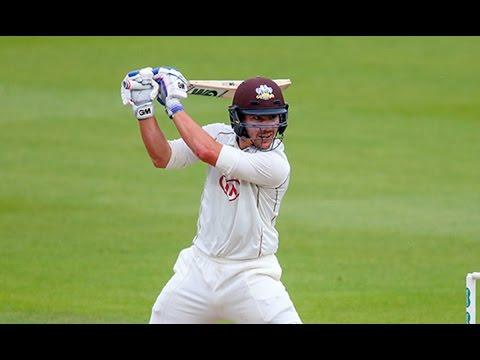 Burns impresses with sparkling century, Surrey v Hampshire, Day One