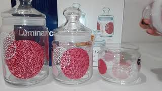 Набор банок для сыпучих 3пр Luminarc Constellation Red - ОБЗОР