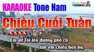 Chiều Cuối Tuần Karaoke | Tone Nam - Nhạc Sống Thanh Ngân