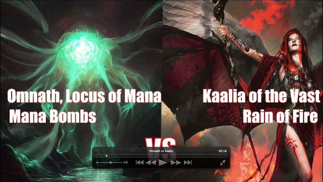 Mtg Commander Gameplay Omnath Locus Of Mana Vs Kaalia Of The Vast