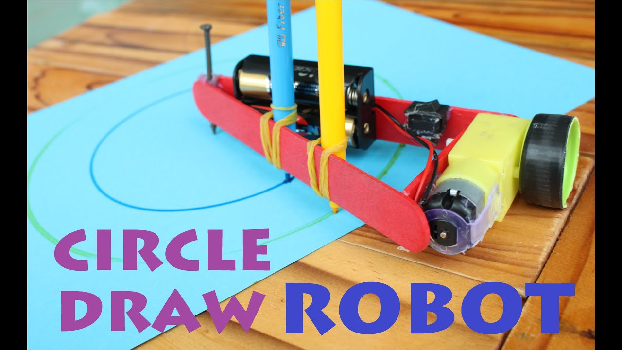 How to make a Circle Draw Robot - Drawing Compass Machine - YouTube