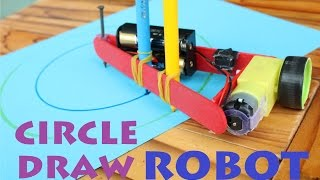 How to make a Circle Draw Robot - Drawing Compass Machine