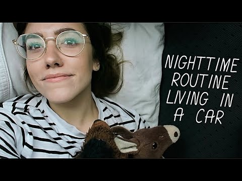LIVING IN MY CAR: SLEEPING/NIGHTTIME ROUTINE | Katie Carney