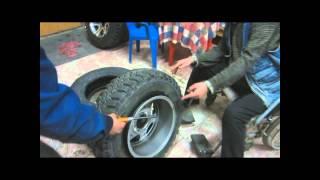 Накачка колес взрывом газа