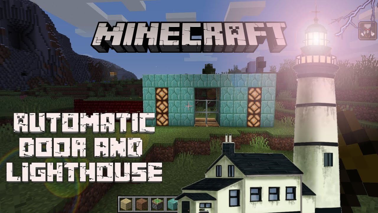 🔴 Minecraft Live | Build Automatic Door and Lighthouse  Effect | Earthquake Gaming | #4
