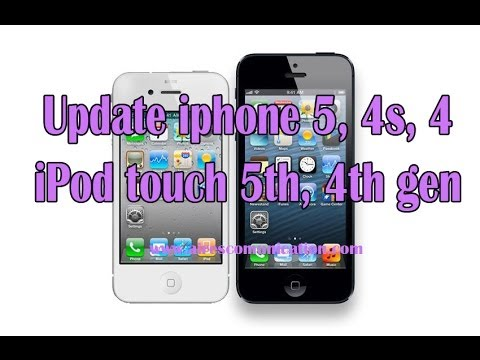 Update OS, Firmware To IPhone 5, 4s, 4, IPod Touch 5th, 4th Gen