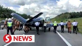 Pilots make emergency landing on highway near Kulai