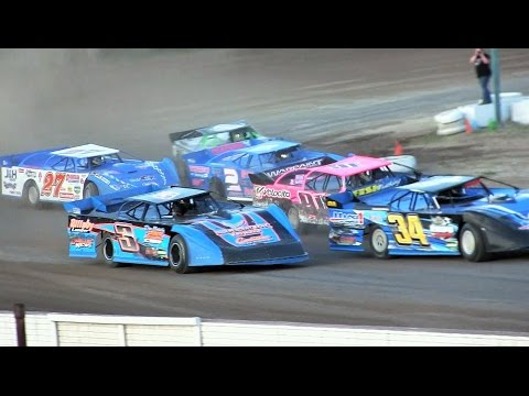 Late Model Heat 3 at Mt Pleasant Speedway on 8-19-16