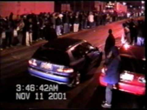 Street Racing in Hunts Point Bronx New York - Summer of 2001
