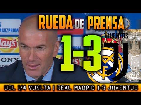 RUEDA DE PRENSA de ZIDANE post  Real Madrid 1-3 Juventus
