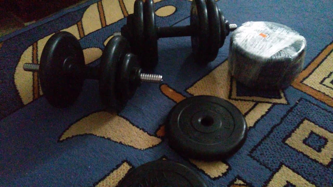 Разборные гантели 30 кг MB Atlet обзор от Sportlim.ru - YouTube