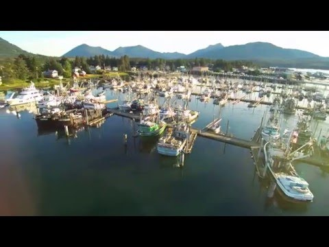 The Charter Boat Ursa Major in Petersburg, Alaska – a Drone's Eye View