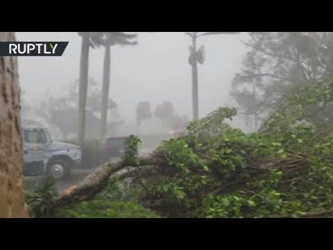 Apocalyptic view of Hurricane Irma as it tears through Naples, Florida