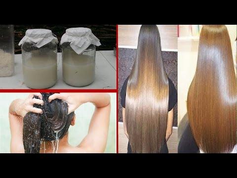 agua de arroz cresce cabelo