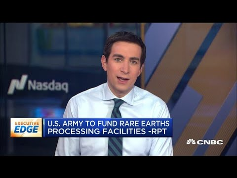 U.S. Army To Fund Rare Earths Plant For Weapons Development: Report