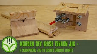 DIY mortise jig for loose tenon joinery with the router from scrapwood [Free plans]