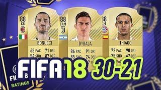 30-21! - fifa 18 ultimate team ratings! #fifa18ratings