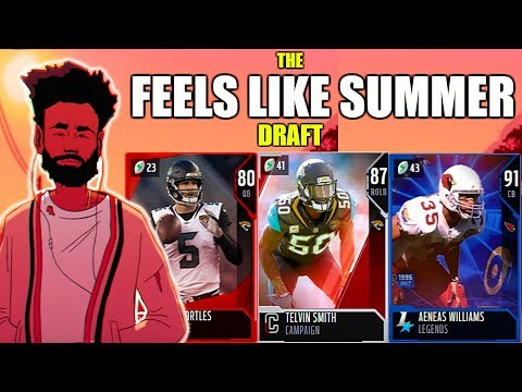 THE FEELS LIKE SUMMER DRAFT! PLAYERS FROM THE HOTTEST CITIES! Madden 19 Draft Champions Gameplay