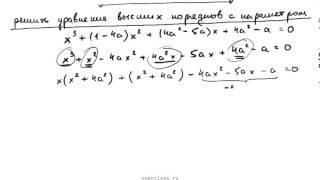 Пример 58. Решить уравнение с параметром