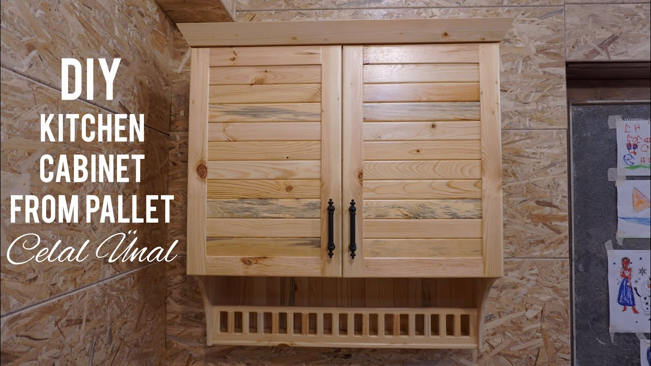 Paletten mutfak dolabi yapimi / Making kitchen cabinet from pallet / How to make a kitchen cabinet