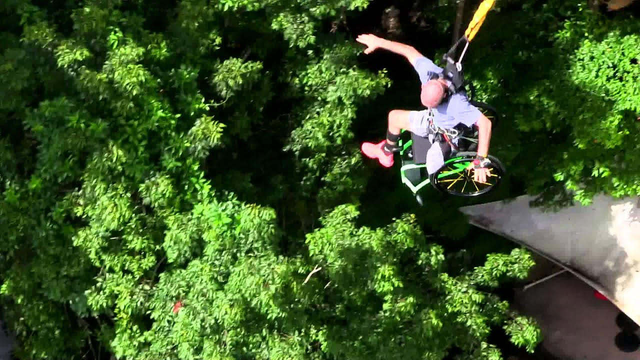 Wheelchair Jump Wicker Hanging Chairs Bungee Cairns Aus Melrose Chair Youtube