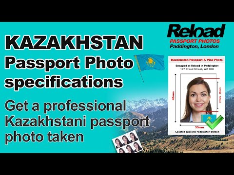Kazakhstan Passport Photo and Visa Photo snapped in Paddington, London