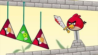 Angry Birds Piggies Out - CUT ROPE TO RESCUE TRIANGLE BIRDS FROM TRIANGLE PIGS!