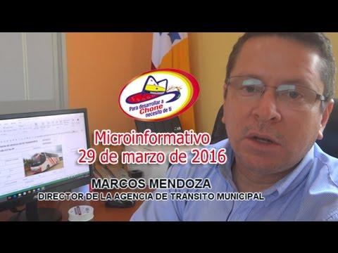 Microinformativo 29 marzo 2016