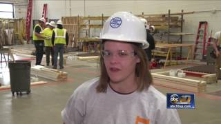 High Schools compete in construction competition