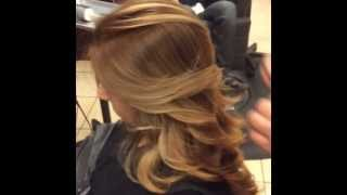 Ombré hair before and after