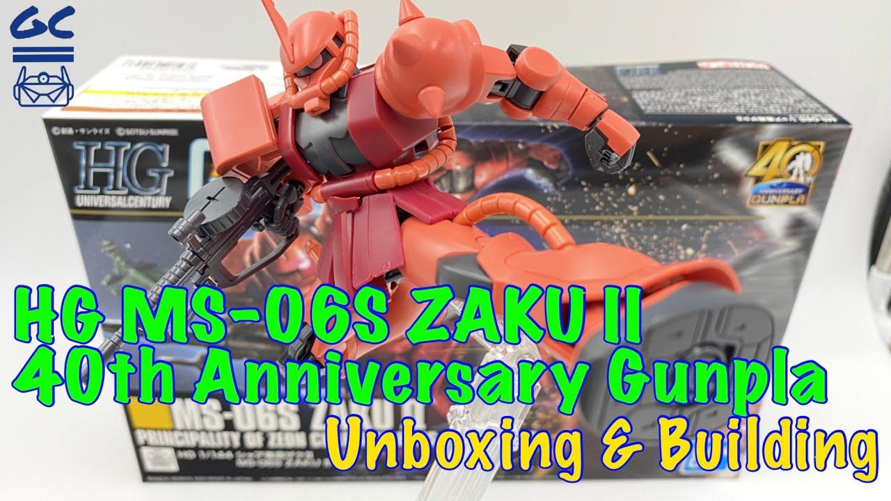 Download [4K UNBOXING & BUILDING] HG MS-06S ZAKU II 40TH Anniversary Gunpla - ASMR