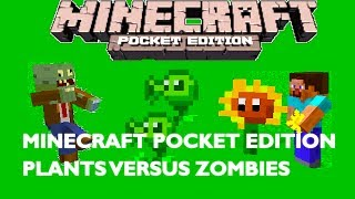 plants vs zombies in minecraft pocket edition map showcase