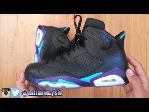Jordan 6 SAMPLE Black Grape