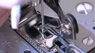 SINGER® Side Cutter Presser Foot Attachment Tutorial