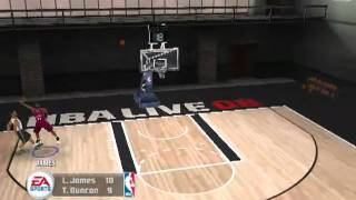 nba live 2008  gameplay pc