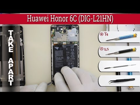 How to disassemble 📱 Huawei Honor 6C (DIG-L21HN) Take apart