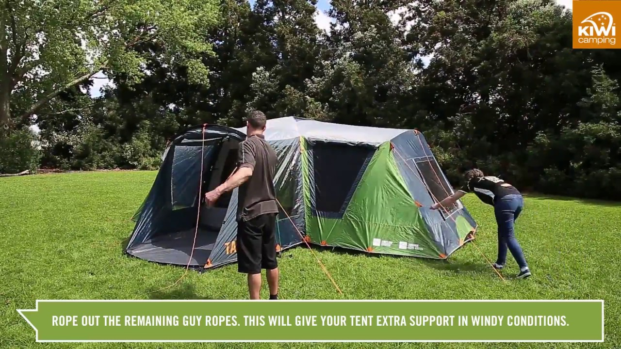Kiwi C&ing Takahe 8 Family Dome Tent - Pitching : guy pitching a tent - memphite.com