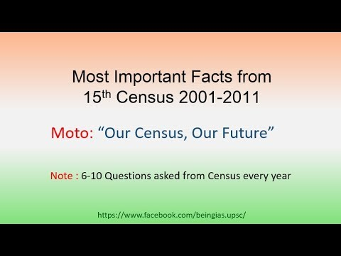 Census 2001-2011: Important Facts and Questions for UP PCS