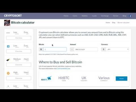 Bitcoin Calculator - Convert BTC To USD, EUR, GPB And More.