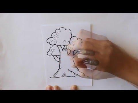 Cmo dibujar un rbol Dibuja Conmigo Dibujos de Primavera  YouTube