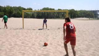 """Пляжный футбол. """"Лукасик""""-""""Шарлис"""". Серия пенальти"""