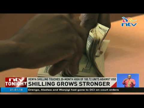 Kenya Shilling touches 20-month high of 100.72 units against USD