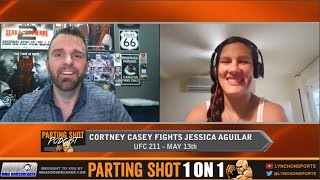 """UFC 211's Cortney Casey """"I'll utilize my range and TKO Jessica Aguilar in the 2nd round"""""""