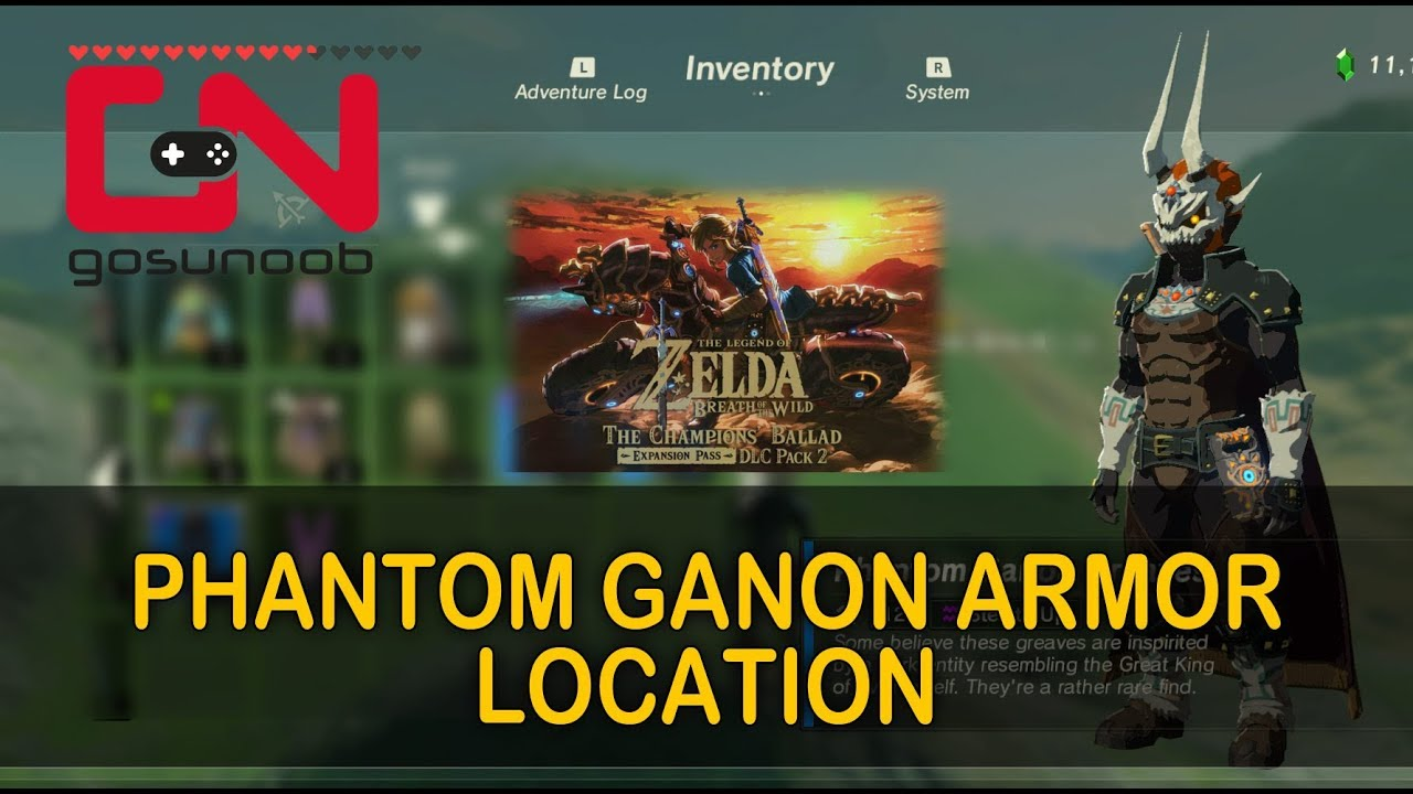 Zelda BoTW Phantom Ganon Armor Location - Dark Armor Quest